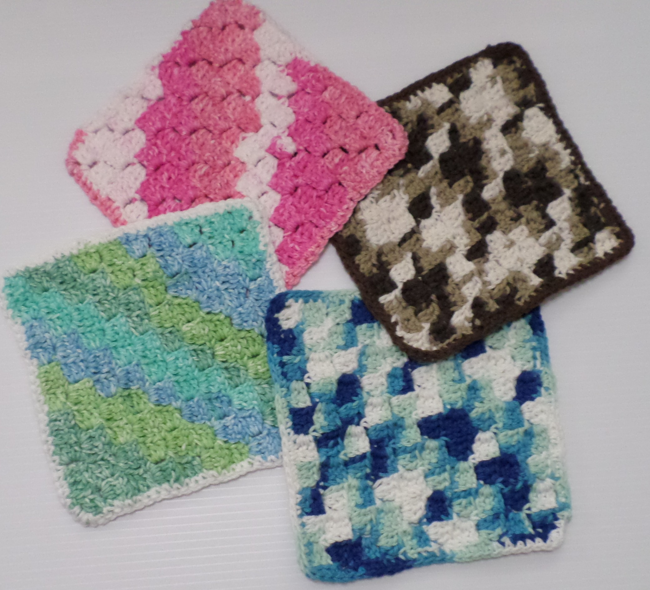 Free Crochet Pattern For Diagonal Dishcloth : Free Crochet Dishcloth Pattern ? Diagonal Block Stitch ...